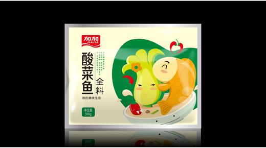 加加酸菜鱼全料包装设计